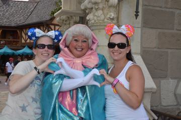 Rachael and Shelley with Fairy Godmother
